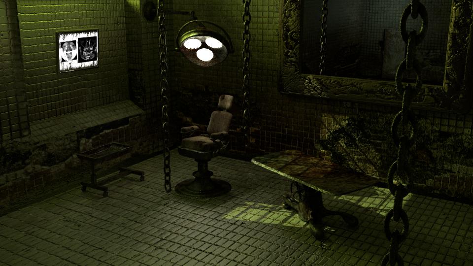 scary room rendering