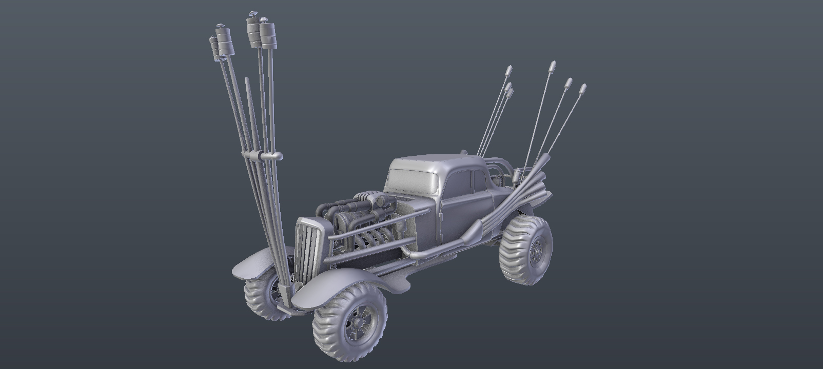"modeling the ""nux car"" from Mad Max fury road"